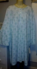 NWT 2X Miss Elaine Nightgown Gown WARM NEW Cuddle Knit SOFT Blue Roses