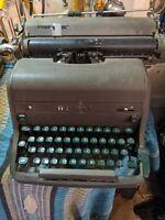 Antique-VTG Royal Manual Typewriter HH Series MCM 1950s Green Keys Heavy Metal