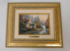 Thomas Kinkade The Forest Chapel Lightpost Publishing Print Gold Frame w/ Coa