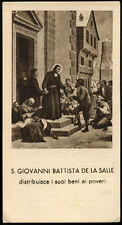 "santino-holy card""S.GIOVANNI BATTISTA DE LA SALLE"