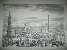 FETES DU 15 AOUT ESPLANADE INVALIDES INAUGURATION STATUE NAPOLEON CHERBOURG 1858