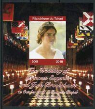 Chad 2018 MNH Princess Eugenie Jack Royal Wedding 1v IMPF M/S II Royalty Stamps
