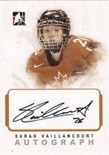 Sarah Vaillancourt 2007 ITG O Canada Team Canada Autographed Hockey Card