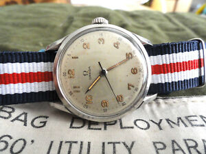 TRES BELLE OMEGA MILITAIRE JUMBO CALIBRE 283 ANNEE 1952 -- NO RESERVE PRICE !!!