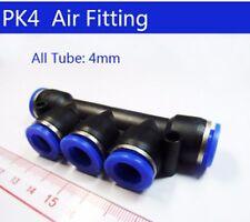 5 Way 5 oem 4mm Pneumatic Push Fit Manifold Quick Fitting 4mm Pipe PK-4 4 mm PK4