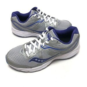 Saucony Grid Cohesion 11 Running Womens Shoes Sz 9.5 W Blue Gray Purple S10421-6