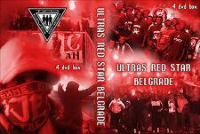 4 DVD BOX ULTRAS RED STAR  (ROTER STERN,DELIJE,CRAZY BOYS,BELGRADO,BEOGRAD)