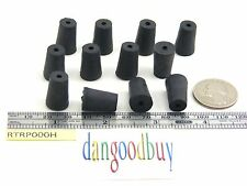 """6  Rubber Stoppers - Laboratory Stoppers - Size 000 -- With Single Hole  """"Corks"""""""