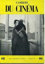 CAHIERS DU CINEMA N° 145 ROBERTO ROSSELLINI