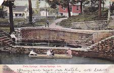 Postcard  Twin Springs Siloam Springs AR people in Rowboat at dock 1907