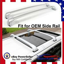 14 - 17 Toyota Highlander XLE Limited OE Style Roof Rack Cross Bars Silver Pair