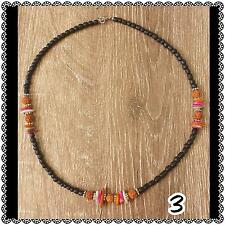 shell & rudrasksha natural seed surf boho necklace 3B