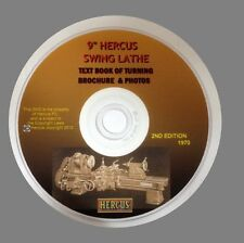 """DVD OF THE HERCUS TEXT BOOK OF TURNING FOR 9"""" VEE BED LATHE"""
