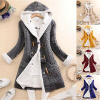 Women/'s Occident  Fox Fur Coat  Hooded Fur Short Winter Black Jackets S-3XL G24