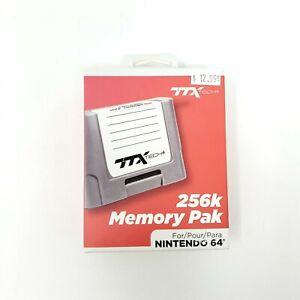 TTX Tech N64 256K Memory Pak for Nintendo 64 Console Controller