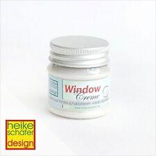 Window Creme, Fenster Creme ablösbar in Pearl Weiss 50g -Neu-  Heike Schäfer