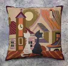 Pillowcase pillowslip pillow woven tapestry cats