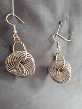 Antique Gold Plated Wires Earrings New E417 Antique Goldtone Wire Pendant & Ring