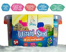 Huge Pack of Magic Sand - 4 Colours, 4.4lbs, 18 pcs Tool, Large Playing Tray, Tr