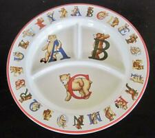 1994 Tiffany and Co. Alphabet Bears Baby Child's Compartment Plate