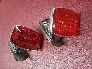 PORSCHE 356C 356 C ORIGINAL REAR REFLECTORS ULO NO135    NICE ORIGINAL