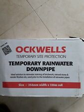 "Temporary rainwater downpipe heavy duty 10"" 100mtrs x 254mm wide"