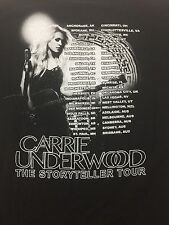 Carrie Underwood The Storyteller Tour Fall 2016 Black Tee T Shirt Small $30