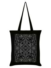 Tote Bag Skull N Bones Black 38x42cm