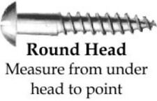 "Rustic Steel - Round Head Screw - #4 x 1/2"" (10 Count) antique vintage old new"