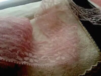 "Vintage Lace Pink 2 1/2"" Garters Sewing Doll Supplies Shabby 7 Yards"