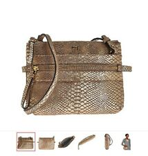 H by Halston Metallic Python Embossed Crossbody Handbag e4c73ecf8959b