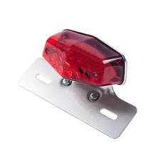 Alloy Motorcycle Motorbike LED Stop Tail Light Number License Lamp Bracket | New
