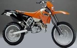KTM EXC 200 2000-2002   REAR STAINLESS BRAIDED BRAKE KIT SX  PATRIOT BRAKING