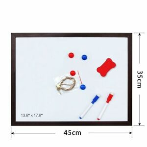 Magnetic Writing Board Message Whiteboard Boards Dry Erase 35 x 45cm 10 Colors
