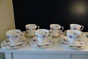 Vintage Duchess 18 Piece (6 x Trios) Tea Set  Pink Roses Pattern Boxed & unused
