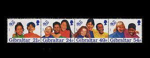 UNICEF 50th Anniversary Strip of 4 mnh stamps Gibraltar 1996 children