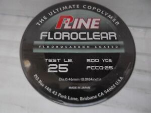 P Line Floroclear 25lb 500 Yds Fluorocarbon Coated