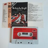 THE WHO THE KIDS ARE ALRIGHT CASSETTE TAPE SOUNDTRACK 1979 PAPER LABEL POLYDOR