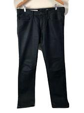 Gap 1969 Skinny Jeans Mens 34 x 32 Jet Black Dark Wash Cotton Blend Denim Euc