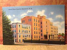 Sacred Heart Hospital Manchester Hillsborough Co NH Vintage Postcard Linen Color