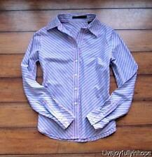 PERRY ELLIS ~ New! Size 4 Small ~ Purple & Blue DIAGONAL STRIPED Buttoned Shirt