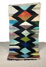 kilim boucherouit.bohemain rug.halzay rug .vintage rug .kilim rug.teppich