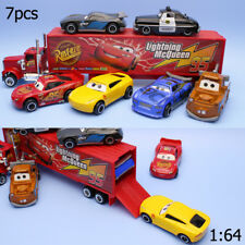 7 pcs/lot 1:64 Disney Pixar Cars 3 McQueen Mater Car toy model Alloy Diecast