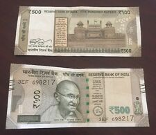 Rupees 500 Note New Indian Currency  Note Signed by Urjit Patel.