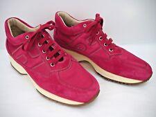 HOGAN INTERACTIVE $425 pink suede nylon sneakers women's 9.5