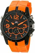 US Polo Assn Men's US9057 Analog Digital Rubber Strap Watch-NEW