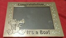 """Congratulations It'S A Boy 3 1/2""""x5"""" picture frame nursery/shower gift"""