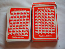 Vintage WESTERN AIRLINES PLAYING CARDS Standard size in original box