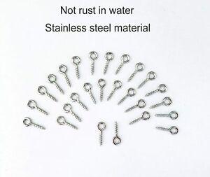 500x New Stainless Steel Screw Eyes Pin Hook for Jewelry,Cork Bottles,Resin,Bead