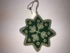 st. Nicolas hecho a mano acolchado Decoración Árbol Navidad Verde & Plata